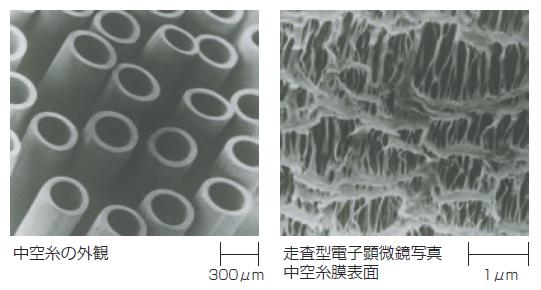 図1 ポリエチレン中空糸の顕微鏡画像